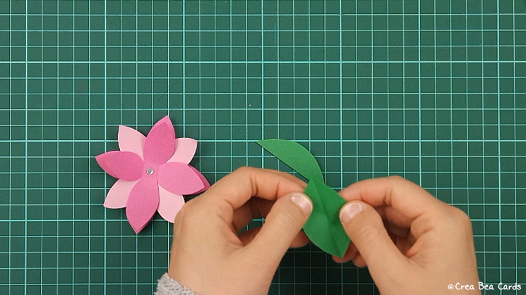 flower card, tutorial, card making, step 9